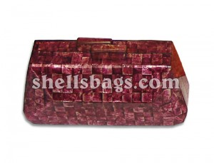 Magenta Capiz Shells Bag