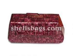 Magenta Capiz Shells Bag