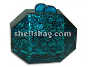 Turq Blue Shell Handbags
